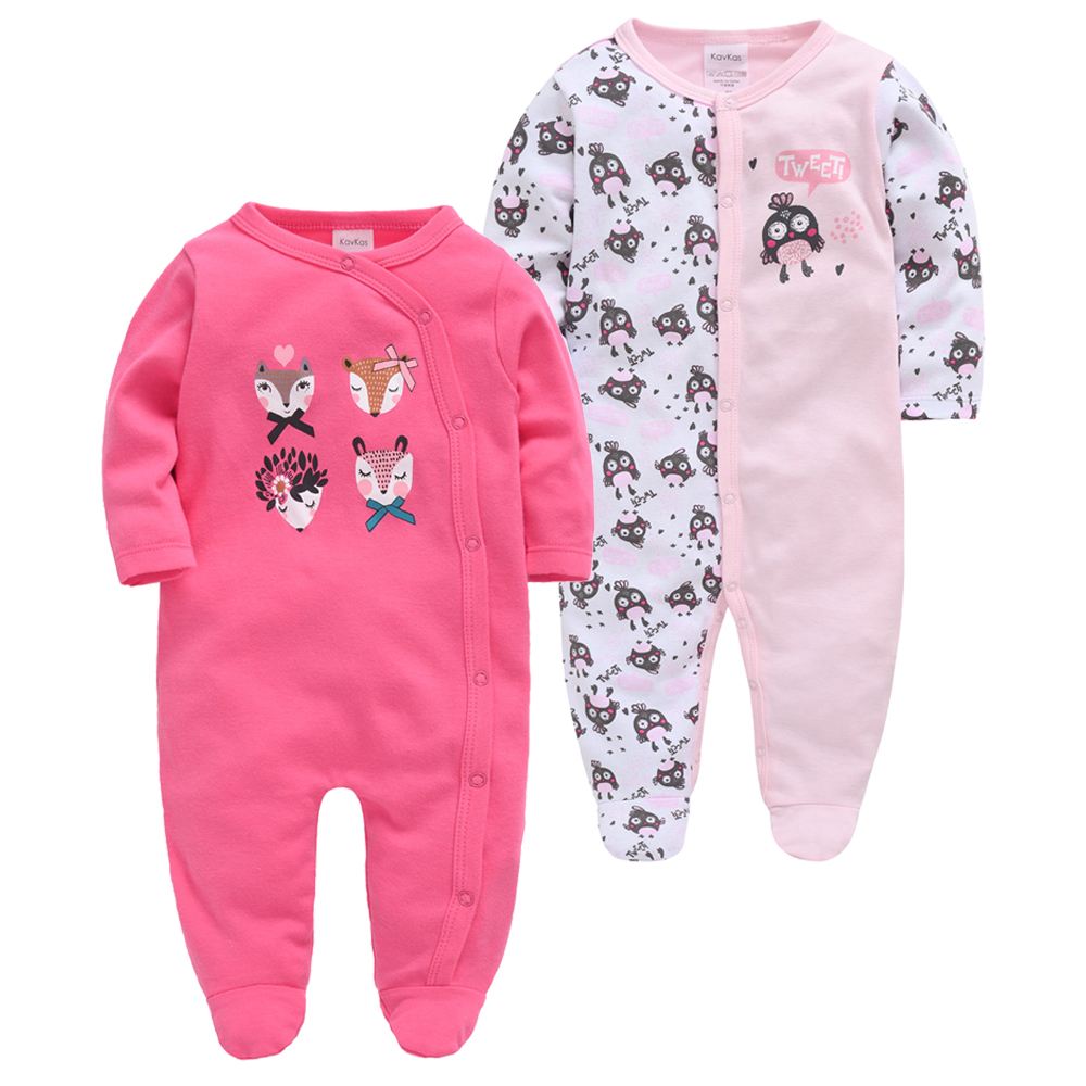 Kavkas Autumn New Born Baby Girl Clothes Knitted Cotton Long Sleeve 3 6 9 12M Ensemble Bebe Fille Infant Boy Clothing