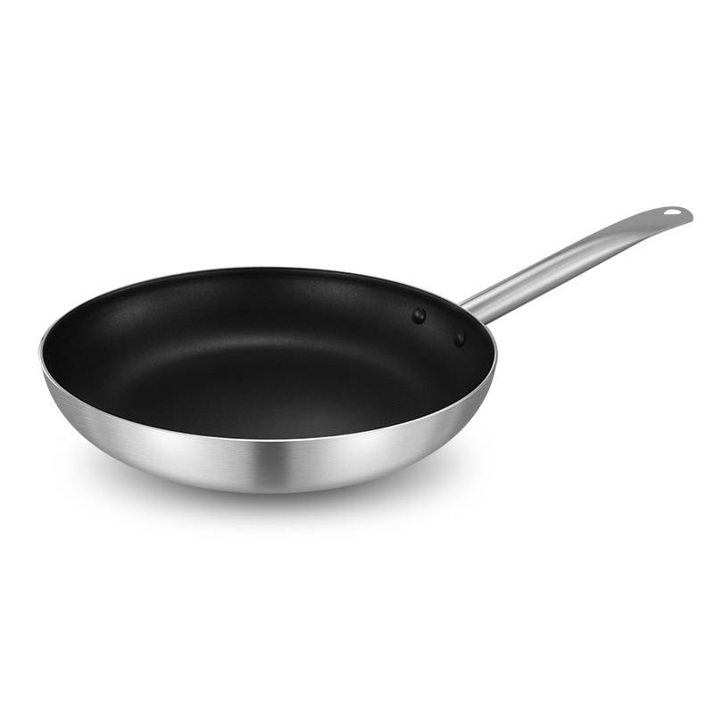 Flat Bottom Non-stick Aluminum Cooker  Frying Pan Induction Frying Pan Alloy