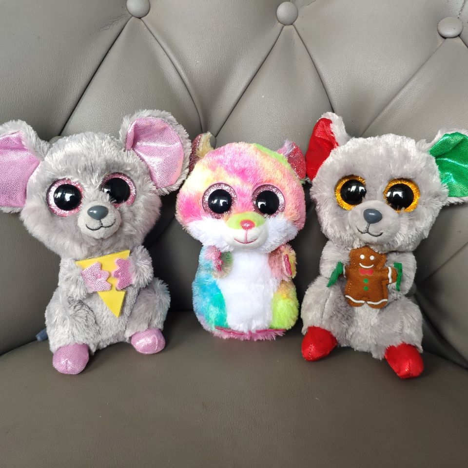 MAC SQUEAKER RODNEY Mouse Hamster 15CM Plush Toys Stuffed Animals Soft Kids Toys Year Of The Rat Dolls