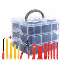 Auto Fastener Clip with Hand Tools Door Trim Panel Auto Bumper Rivet Retainer Push Engine Cover Clips Car Interior Accessories