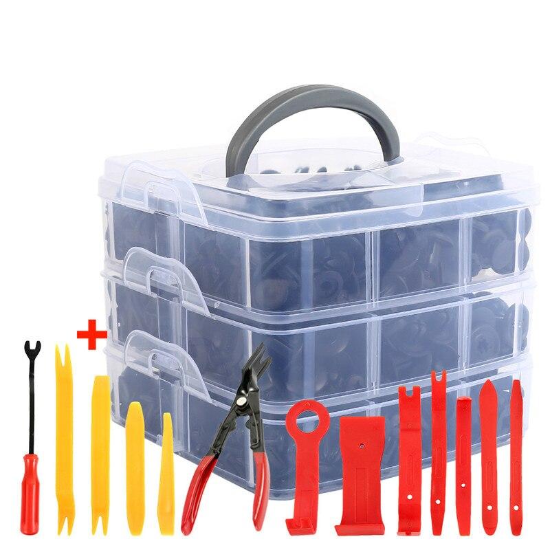 Auto Fastener Clip mit Hand Werkzeuge Tür Trim Panel Auto Stoßstange Niet Retainer Push-Motor Abdeckung Clips Auto Innen Zubehör