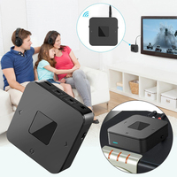 2 In 1 Digital Optical Audio Adapter Low Latency Transmitter Receiver Portable TV Stereo Home Bluetooth 5.0 Wireless Headphones