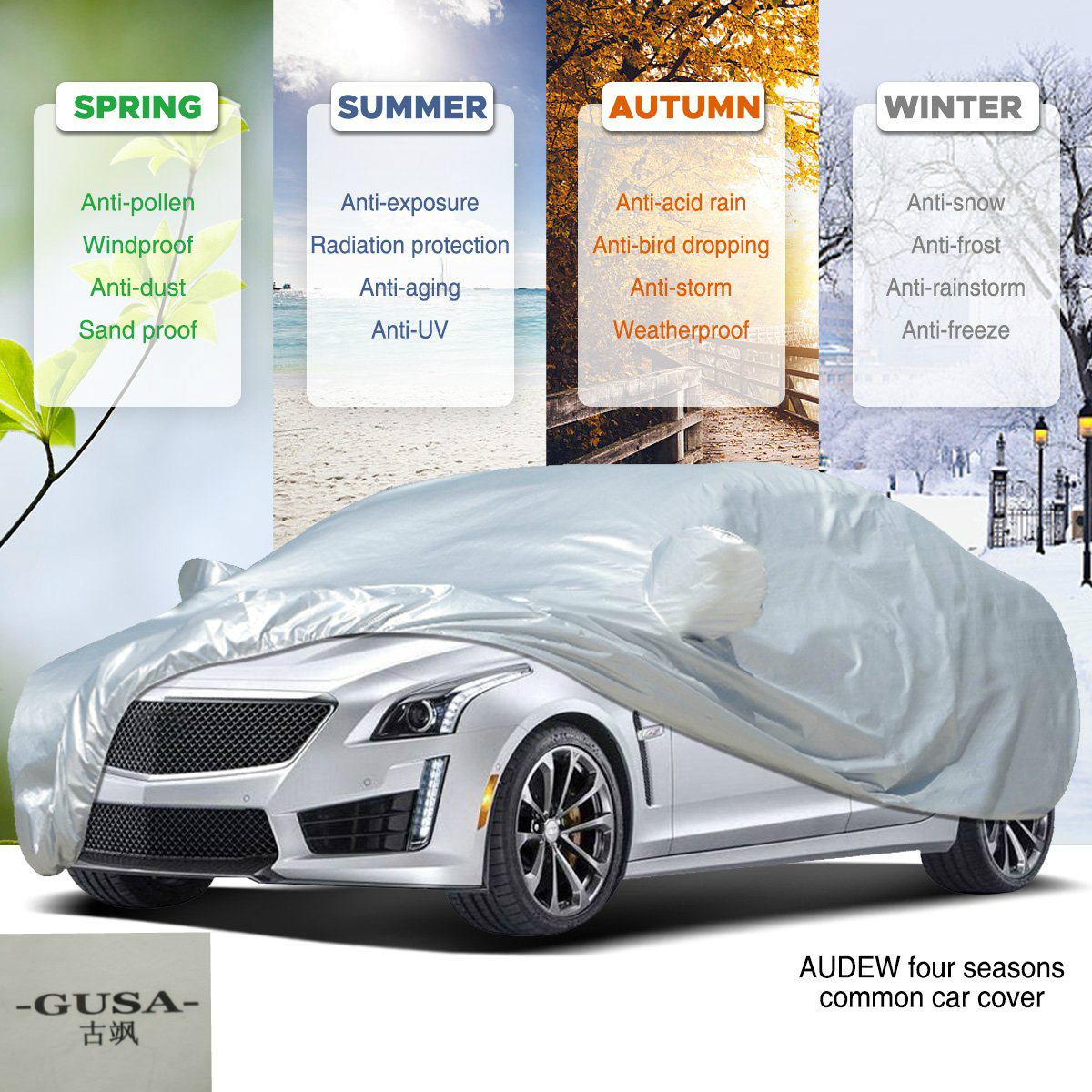 Double Stitched Double Layered PREMIUM Car Cover 4x4 Waterproof UV Protection