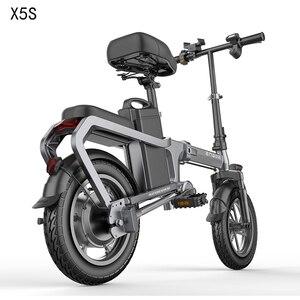 Electric Bike without chain 14inch Mini Electric Bicycle 48V10/15/20A city ebike 350W Powerful 30km/h bike/Full throttle sctooer