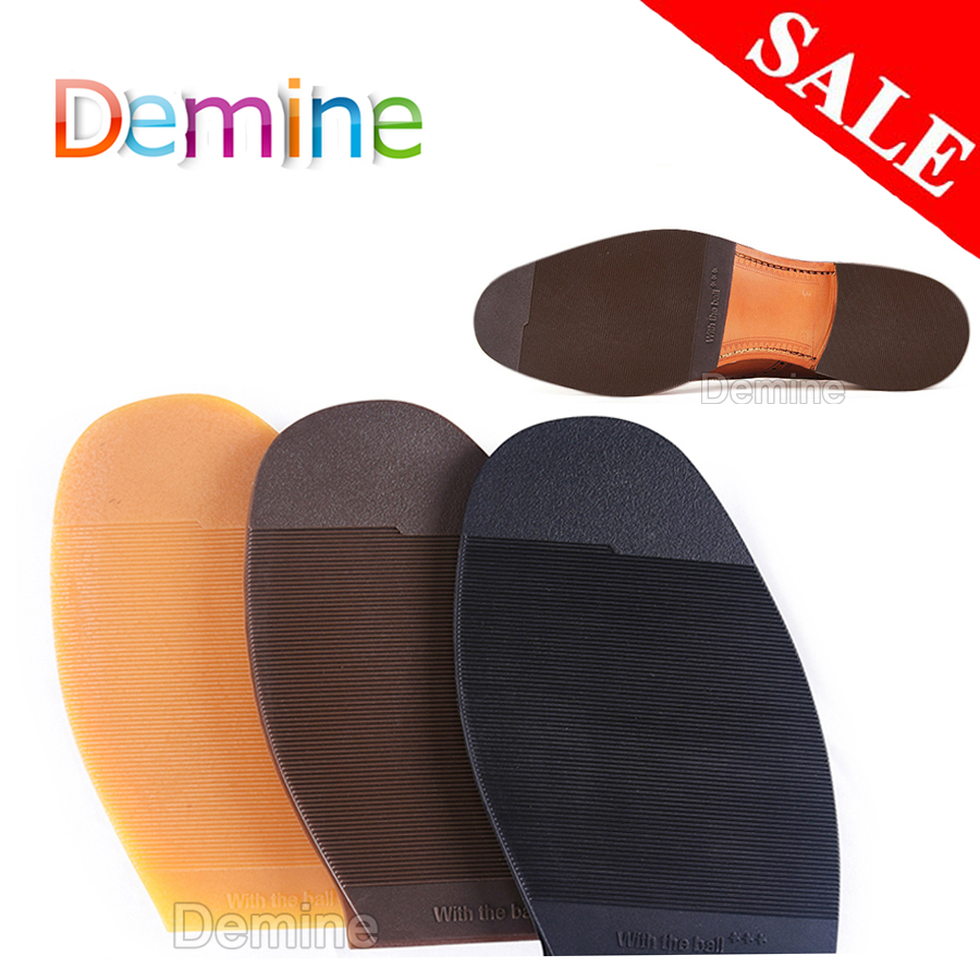 Rubber Shoe Soles Repair For Men Leather Shoes Anti Slip Ground Grip Half Outsoles Replacement DIY Mat Cushion Forefoot Pad Sole