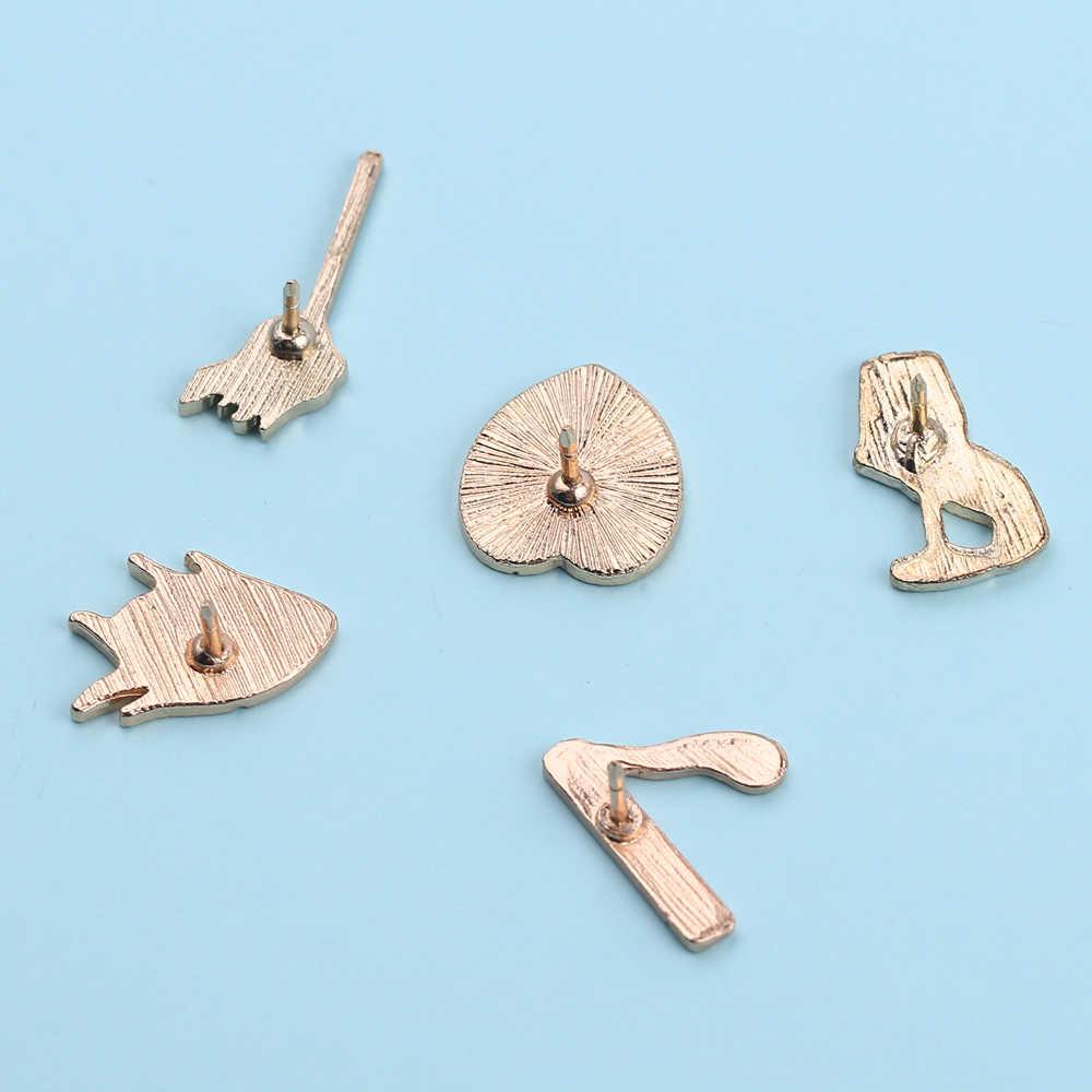 Baru Ikan Anggur Kaca Rokok Pertandingan Mulut Pin Set Pin Lencana Keras Pin Enamel Bros Jaket Kerah Ransel Topi Perhiasan