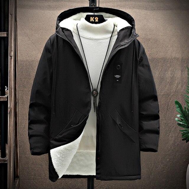 KOLMAKOV 2021 New Men's Thin or Thick With Velvet Windbreaker Men Hooded Printed Overcoats Casual Long Trench Coats Male M-4XL 2