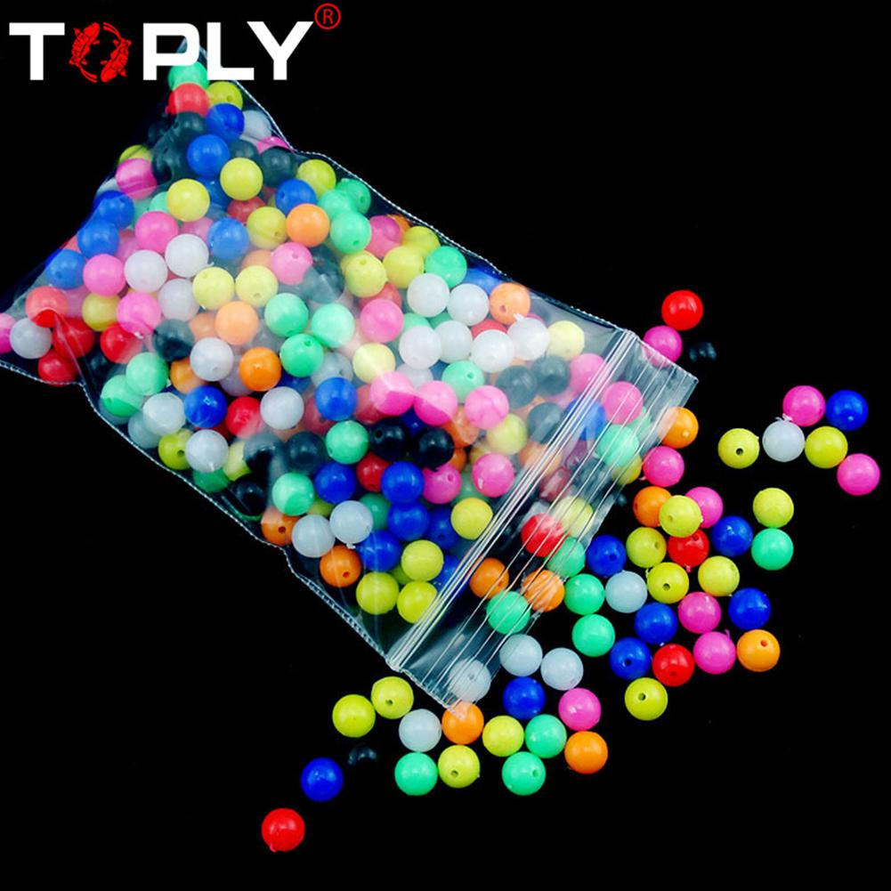 New 100pcs Multiple Color Mixed Fishing Rigging Plastic Beads Stops For Lure Spinners Sabiki DIY 6mm 8mm