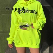 FENGGUILAI Spring Autumn Oversized Hoodie Women Letter Female Casual Long Sleeve