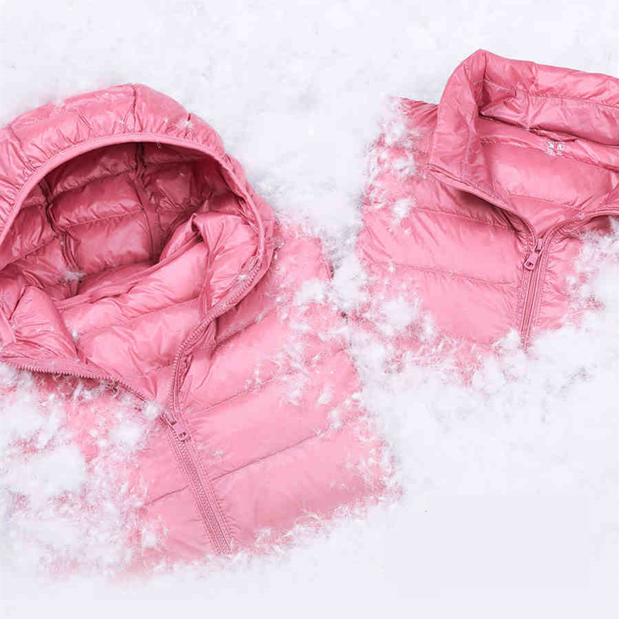 Women's   Down   Jackets Plus Size Light   Down   Jackets Women Hooded Winter Clothing   Down     Coat   Casual White Duck   Down   Female Jackets