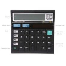 Desktop Calculator Solar-Battery Office School-Store Large-Display 12-Digit Dual-Power