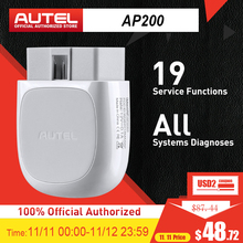 Autel AP200 Bluetooth OBD2 Scanner Code Reader with Full Systems Diagnoses AutoVIN TPMS IMMO Service for Family DIYers PK Mk808