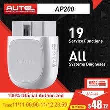 Autel AP200 블루투스 OBD2 스캐너 코드 리더 전체 시스템 진단 AutoVIN TPMS IMMO 서비스 가족 DIYers PK Mk808
