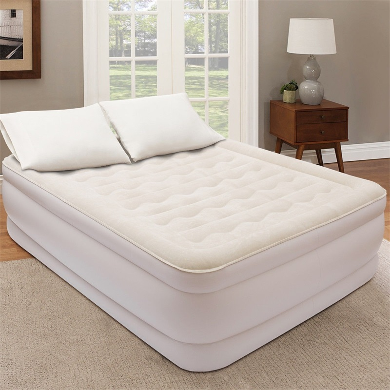 High Quality Luxury Quilt Top Raised Airbed with Built-in Pump Luxury Furniture Twin Bed  Bedroom Bed HW58940US