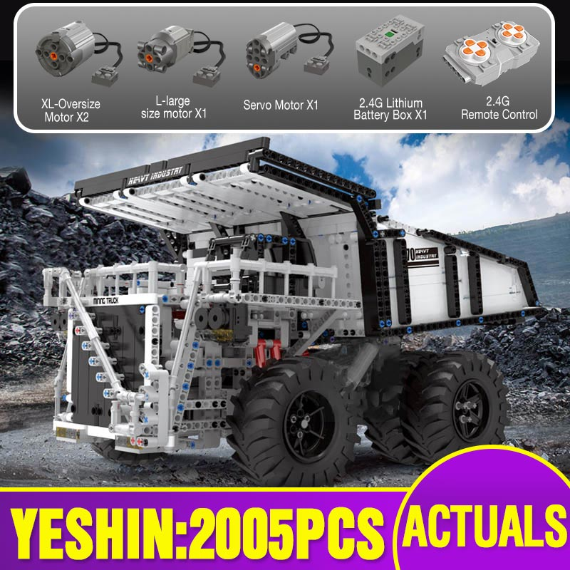 Technic Car Toys Compatible With Lepining MOC-29973 Liebherred RC T284 Mining Dump Truck Set Building Blocks Kids Christmas Gift