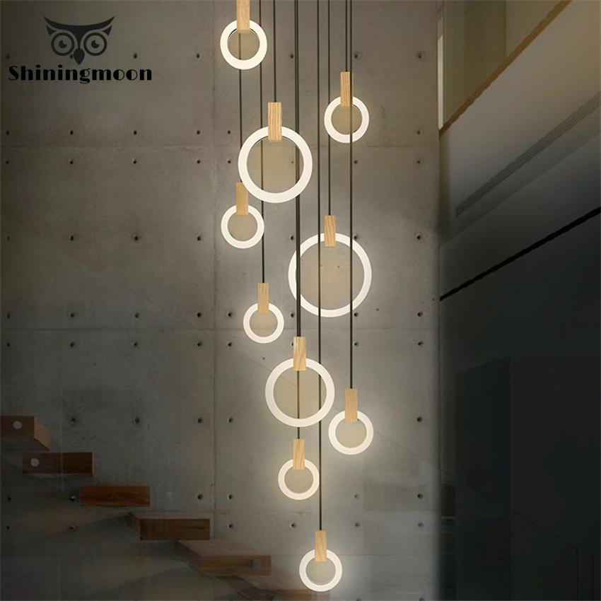 Modern Decor LED Rings Pendant Lights Nordic Creative Loft Living Room Pendant Lamps Restaurant Kitchen Hanging Lamps Luminaire