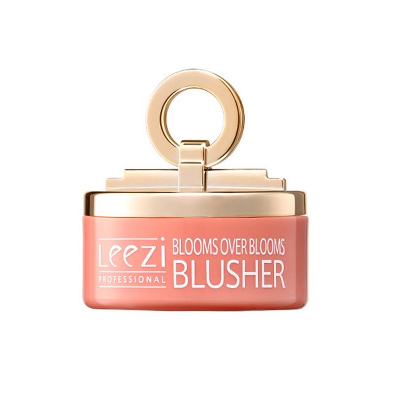 3 cores pequeno sino rosa rosto blush cogumelo cabeca blush natural nude maquiagem monocromatico rouge bochecha