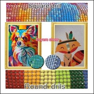 "Image 5 - 5pcs/set,Full Square Drill 5D DIY Diamond Painting ""autumn Landscape"" Multi picture Combination 3D Embroidery Mosaic Decor"