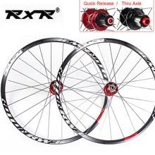 RXR juego de ruedas de aluminio para bicicleta de montaña, juego de ruedas de 26, 27,5 y 29 pulgadas, 7 a 11 velocidades, llanta delantera y trasera, compatible con Shimano SRAM Cassette