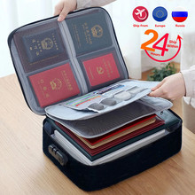 Multifunctional Briefcase Business Trip Certificate Organize Bag Office Document File Storage Handbag Package Goods Accessories
