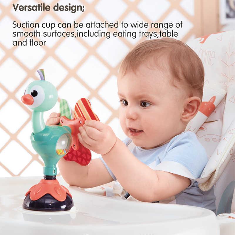 HOLA 3150C детская погремушка детский стульчик игрушка для новорожденных Малыш 6 месяцев силиконовые настольные присоски игрушки для младенцев Дети Обучающие игрушки