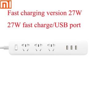 Image 1 - Original Xiaomiปลั๊กUniversalแหล่งจ่ายไฟBoard 6รูซ็อกเก็ตไฟฟ้า100 240V/USB 27W Fast Charging Adapter