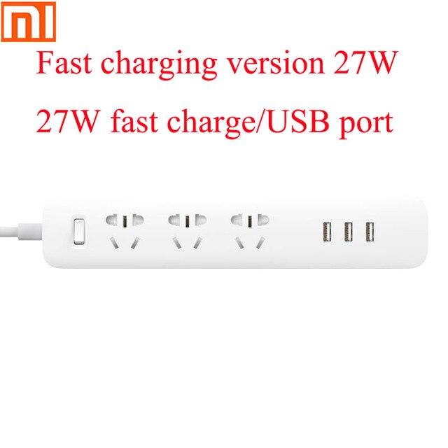 Original Xiaomiปลั๊กUniversalแหล่งจ่ายไฟBoard 6รูซ็อกเก็ตไฟฟ้า100 240V/USB 27W Fast Charging Adapter