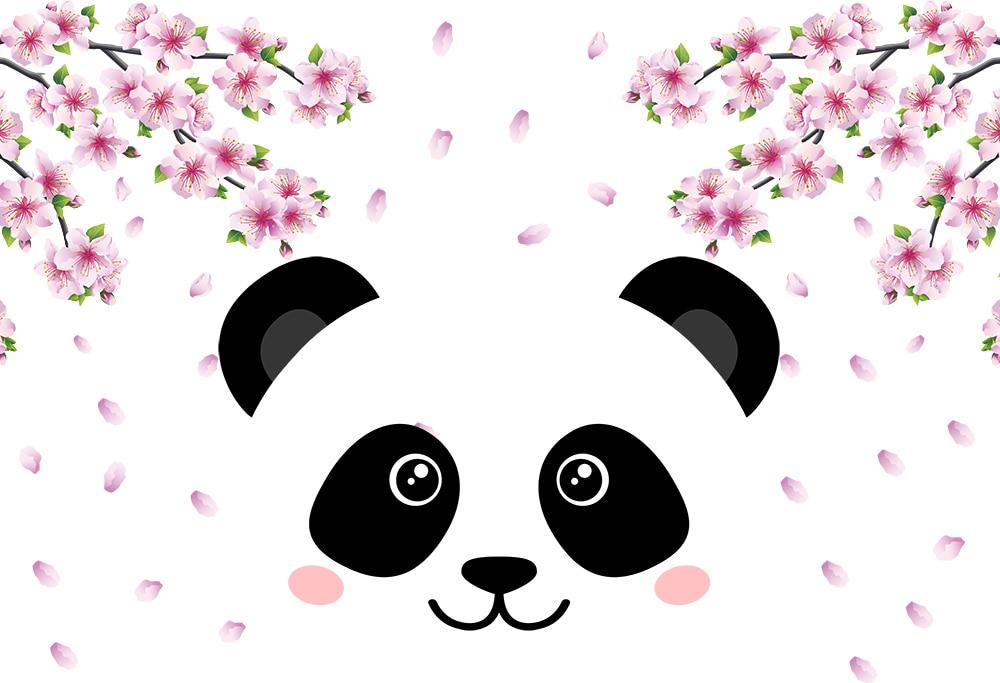Gadis Lucu Bertema Panda Pesta Ulang Tahun Latar Belakang Photo Booth Latar Belakang Dekorasi Rumah Wallpaper