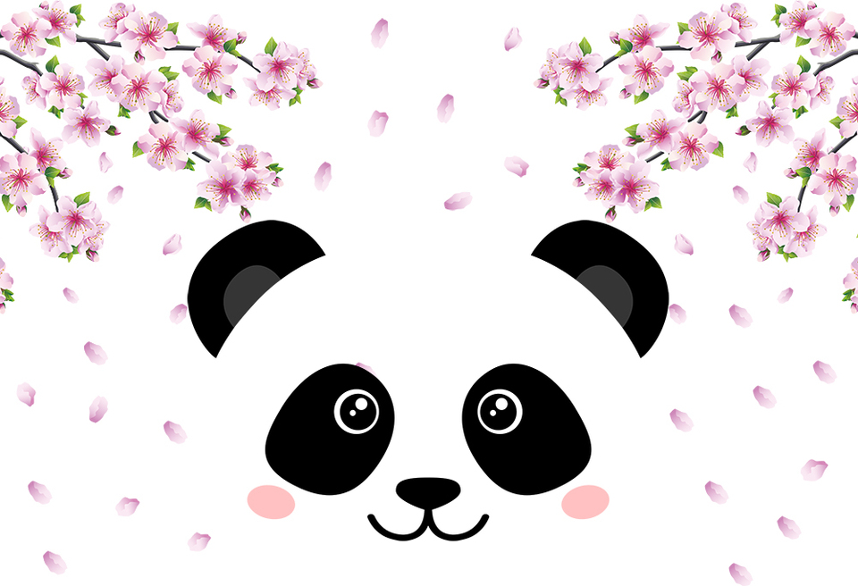 Girl Cute Panda Themed Birthday Party Backdrop Photo Booth Background Home Decor Wallpaper Vinyl Poster Picture Baby Shower Prop Background Aliexpress