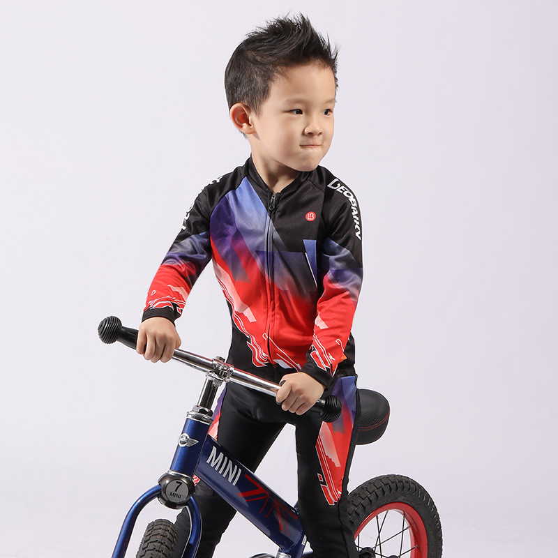 Child Team Bike Jersey Sets Kids Cycling Set Riding Clothing Mtb Wear Children Bicycle Clothes Boy Sport Suit Girls Long Kits|Cycling Sets| |  - title=