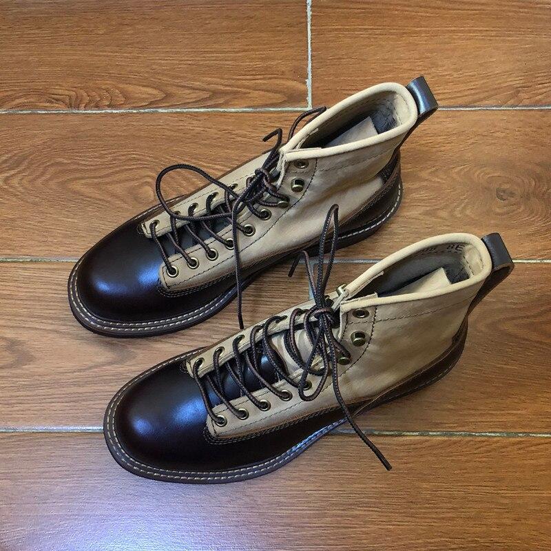 2019 мужские ботинки из натуральной кожи; сезон осень зима; ботильоны; модная обувь; слипоны; мужская повседневная обувь в деловом стиле с высо... - 4