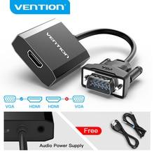 Mukavele VGA HDMI dönüştürücü 1080P erkek kadın ses VGA HDMI dijital Analog adaptörü için HDTV projektör HDMI VGA