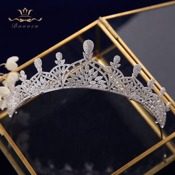 Luxurious Plated Zircon Brides Tiaras Crowns Crystal Silver Brides Headbands Headpieces Evening Hair Jewelry