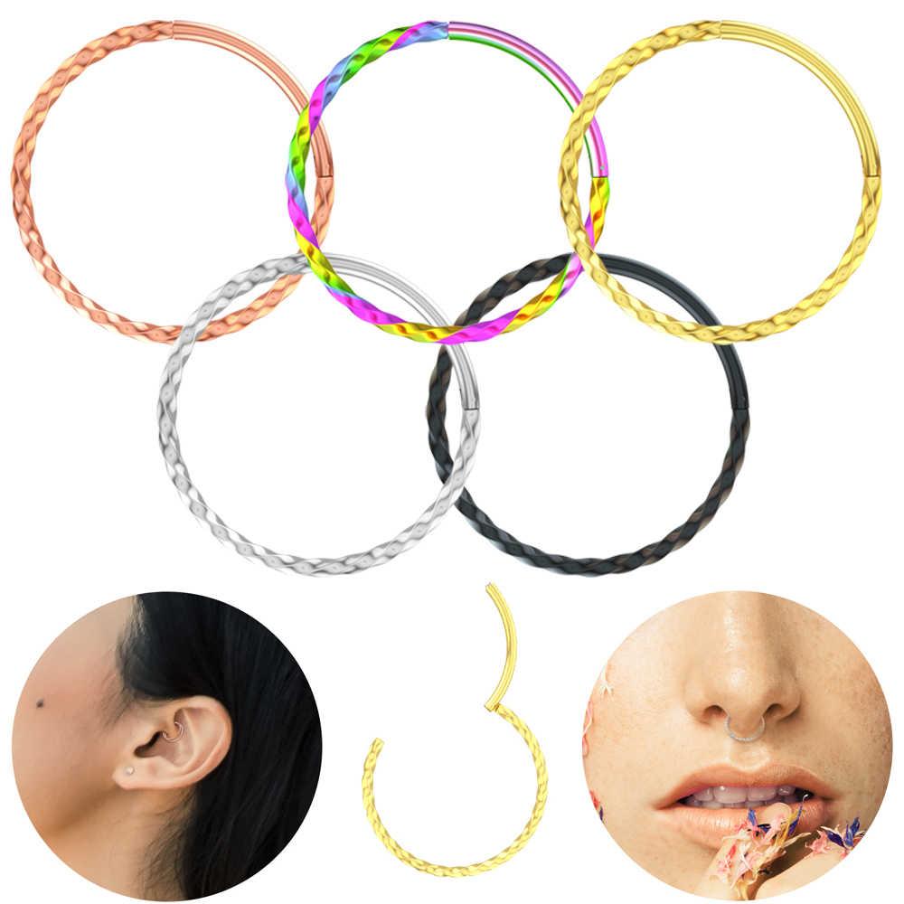 Twist Nose Ring 16g 8 10mm Hoop Septum Helix Piercing Ear Tragus