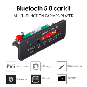Image 4 - Плата декодера MP3 WMA DC 5 12 в, Bluetooth V5.0, аудио модуль, USB TF FM радио AUX mp3 плеер, гарнитура для автомобиля, поддержка записи