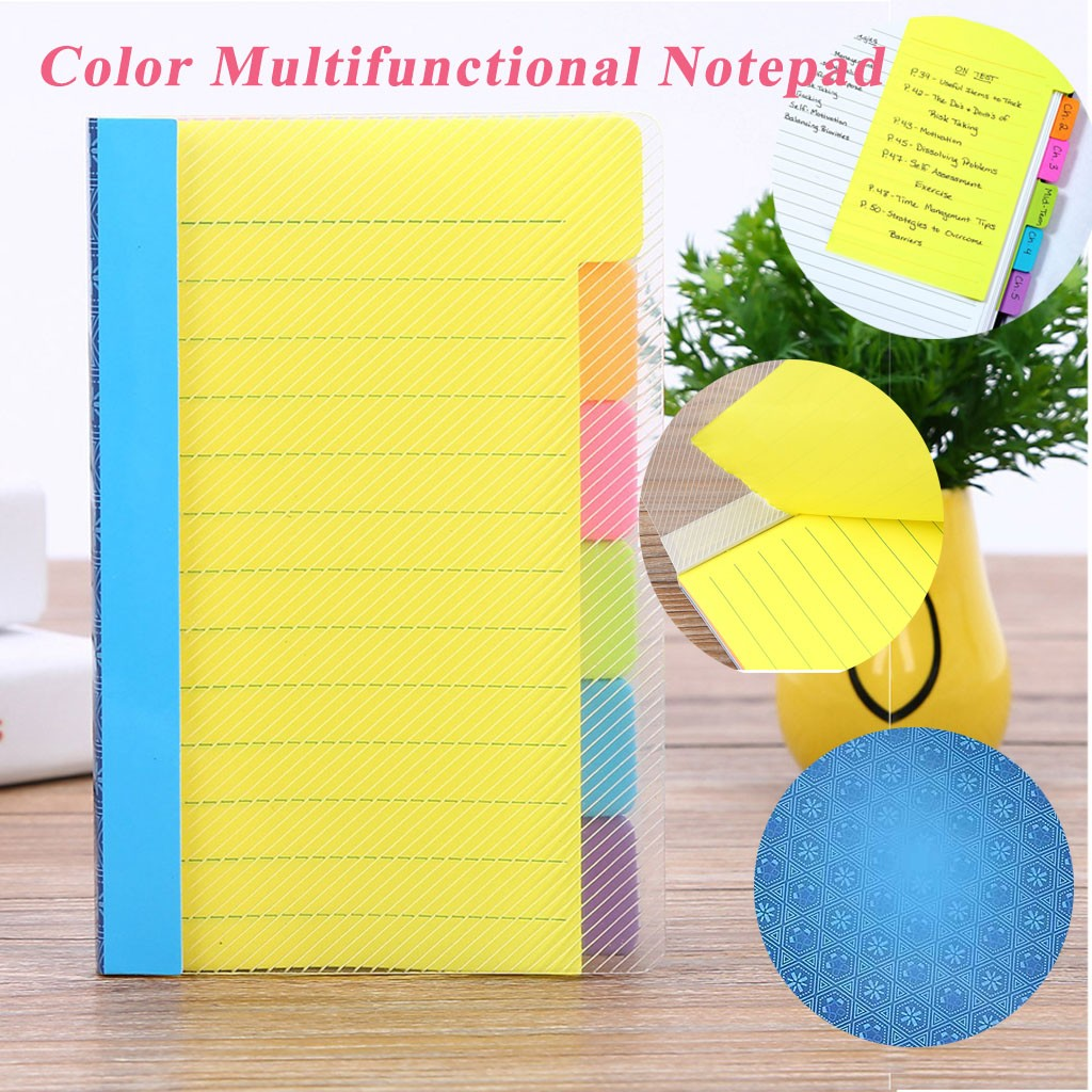 Pad Sticky Notes Stationery Sticker Office School Supplies Colorful Notes Assorted Neon Colors Sticky Notes With 60 Ruled Notes