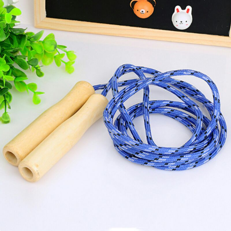 Thick Wooden Handle Jump Rope Children Jump Toy Skipping Rope With Wooden Handle Sports Fitness Equipment Athletic Activity Game