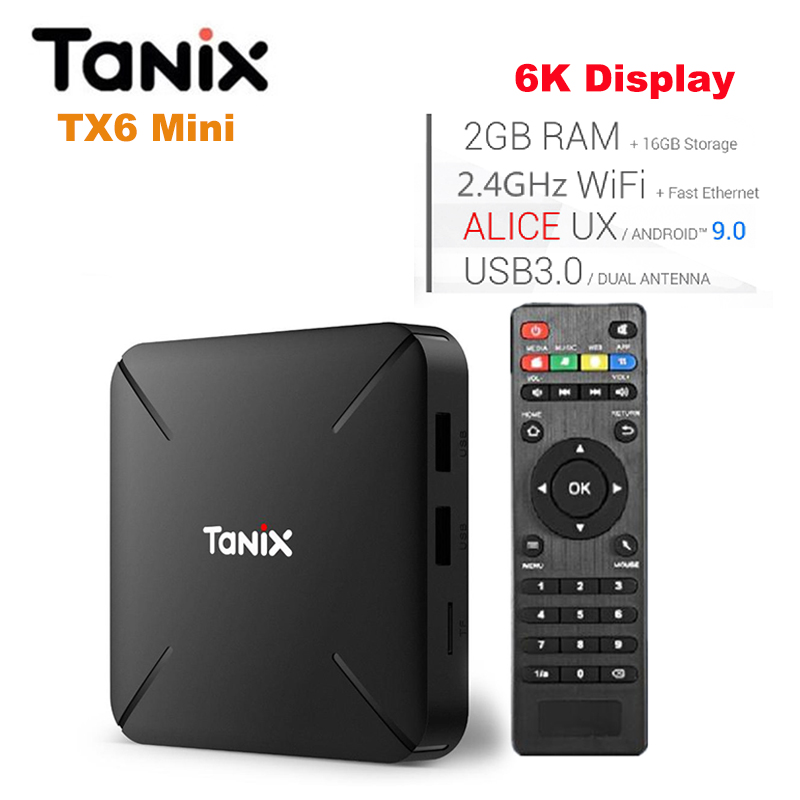 Worldwide delivery tanix tx6 mini tv box android 9 0 in