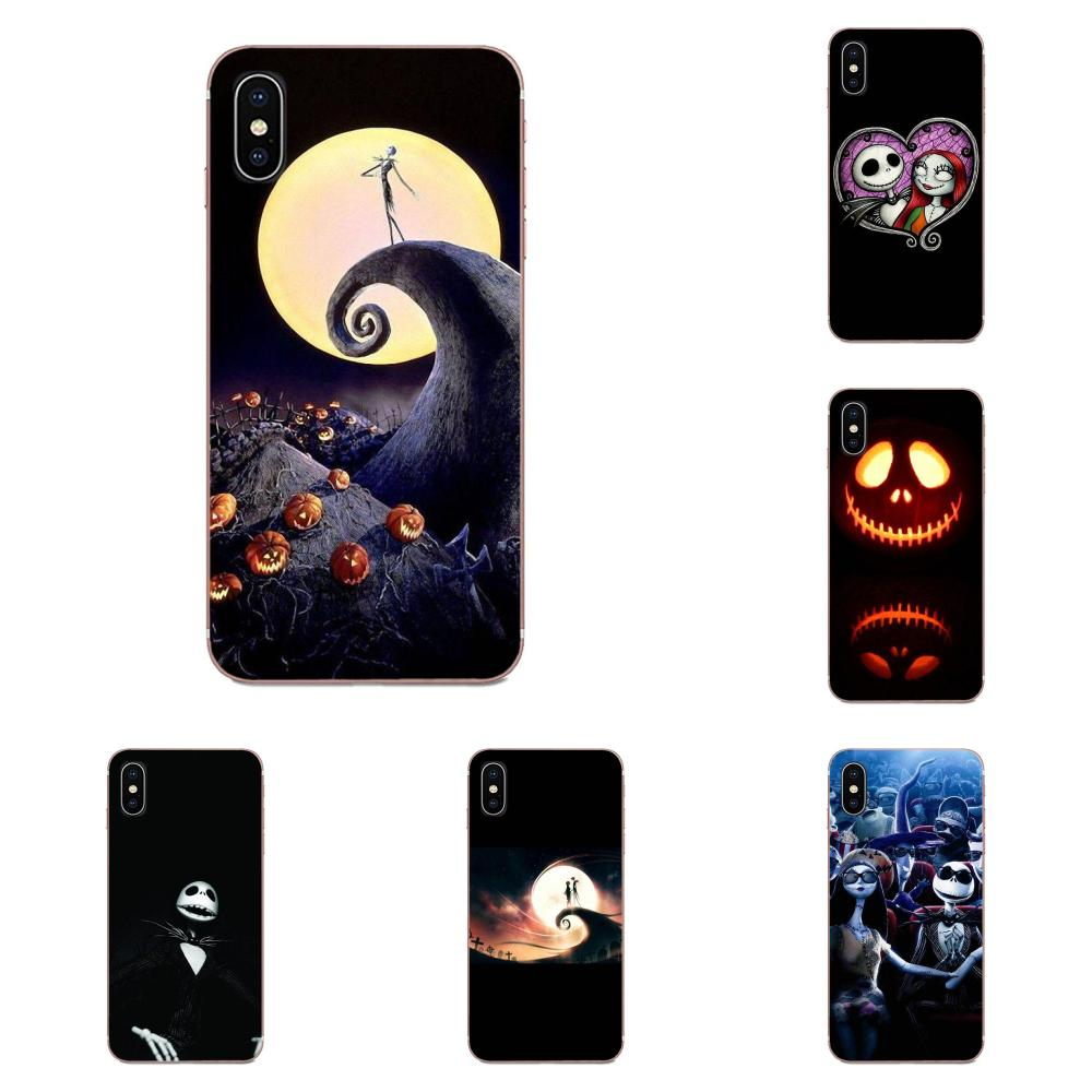 Coque Shell Nightmare Before Christmas Alloween For Apple iPhone 4 4S 5 5C 5S SE 6