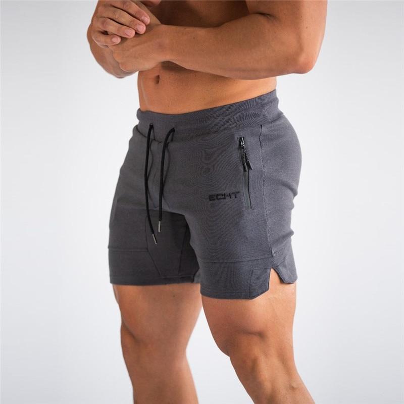2021 New men Zip pocket Fitness Gyms Shorts Mens Summer Running Short Pants Male Jogger Workout Beach Brand sport shorts men