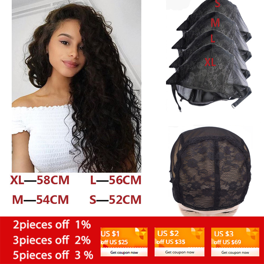 1 Pcs/Lot Wig Cap For Making Wigs With Adjustable Strap On The Back Weaving Cap Size S/M/L/XL Glueless Wig Caps