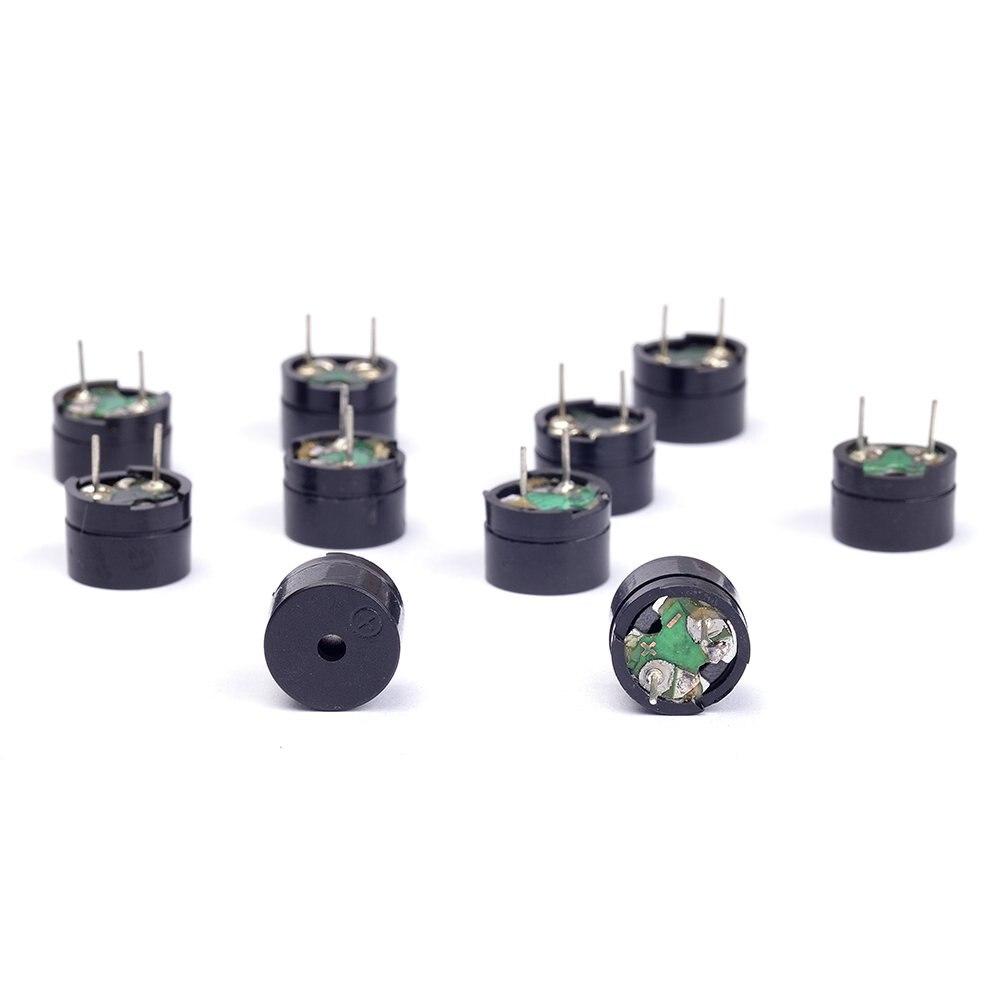 12 10PCS Passiva Buzzer AC 8.5MM x 12085mm Resistência 42R 3V 5V 9V 12V Em Uso Comum Mini Campainhas Piezo Para Arduino Diy Eletrônico