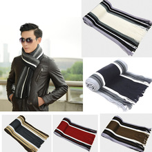 Winter Designer Scarf Men Striped Cotton Scarf Male Brand Shawl Wrap K
