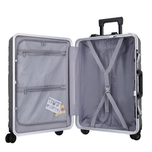 Novo 20 aluminum alumínio-moldado computador bagagem caso de negócios homens e mulheres caixa de check-in bagagem para mala de viagem carga spinner carry-ons 4