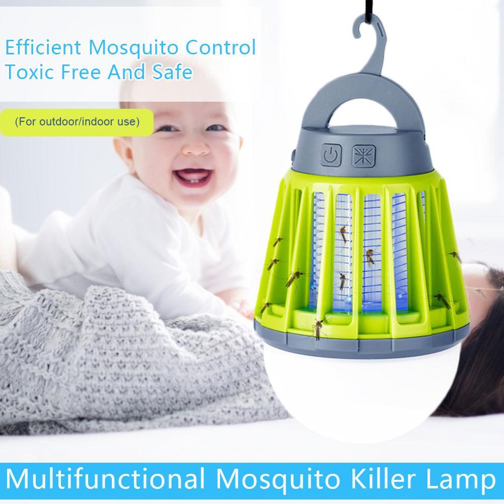 Trampa para mosquitos con USB, matamosquito Led para exterior, descarga eléctrica, repelente de mosquitos para el hogar, Mata mosquitos electrónico DN25(G1.0