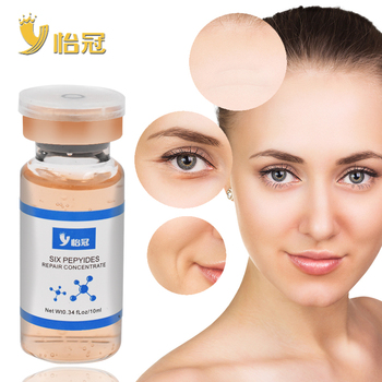10ML Six pepyides repair conentrate Shrink Pores Face Serum Whitening Hyaluronic Acid Liquid Moisturizing Anti Wrinkle Face