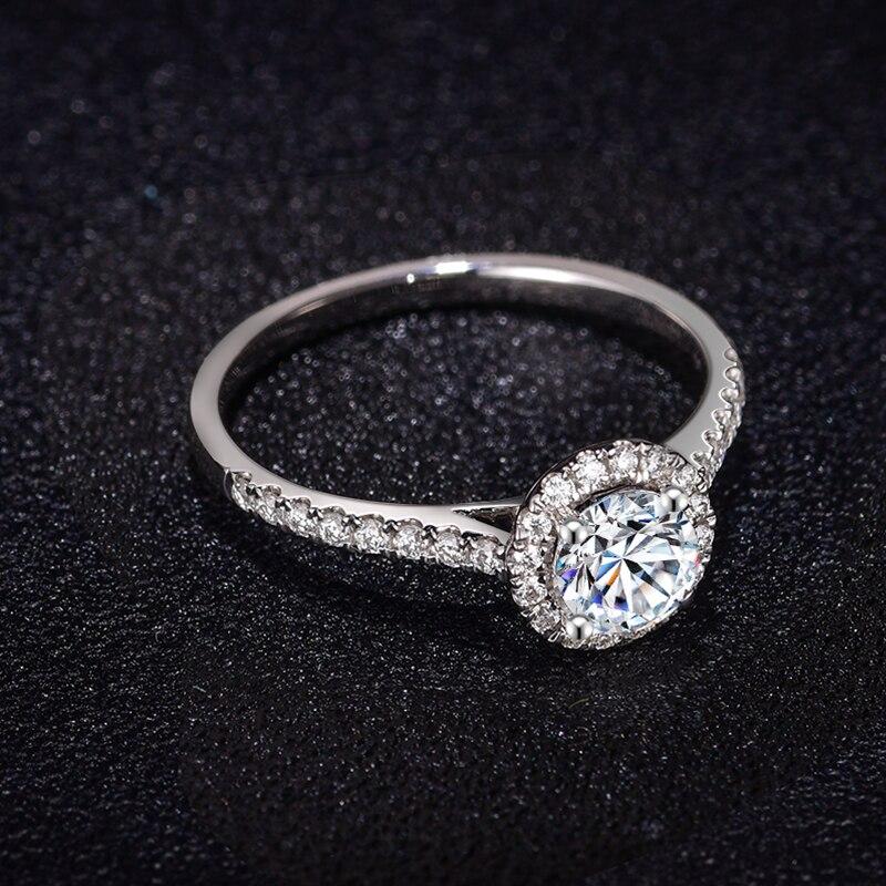Image 5 - 婚約指輪女性 18 18k ホワイトゴールド無色 vvs ハーツ矢印チャールズ colvard 永遠 1 モアッサナイトリング指輪   -