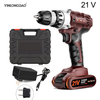 21V Lithium drill Electric Screwdriver Cordless Drill  Lithium-Ion Battery Wireless Power Driver DIYTorque drill Power Tools