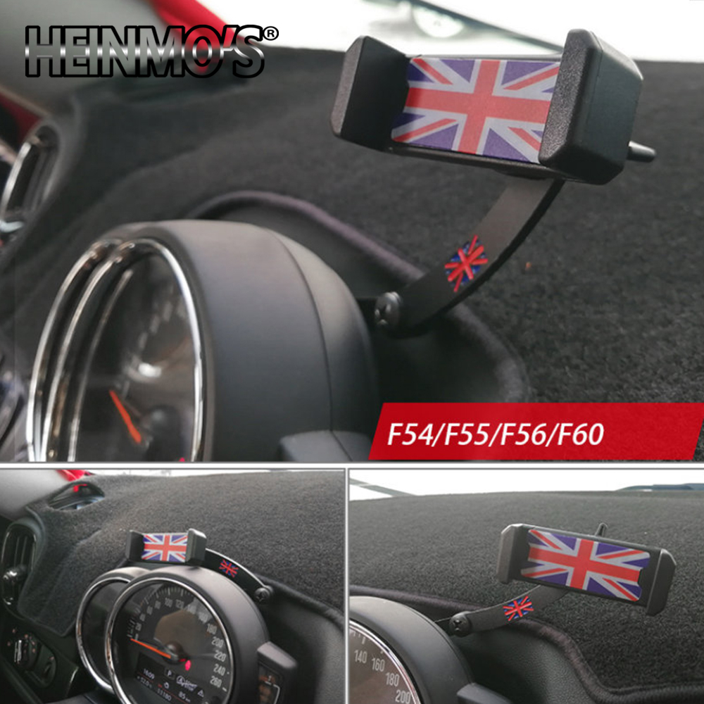 Car Cell Phone Mount Holder For Mini Cooper F54 F55 F56 F57 F60 Mobile Phone Mount Holder Car Decoration Styling Accessories