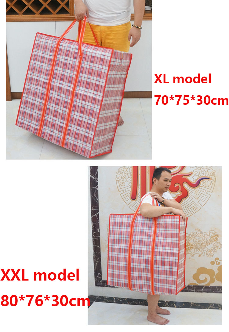 Big Packing bag for large-capacity quilt clothes, portable large pockets, Moving luggage woven bags, canvas sacks travel bags